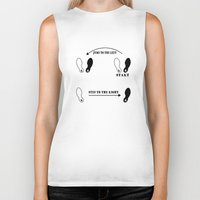 rocky horror picture show Biker Tanks featuring TIME WARP DANCE STEPS Rocky horror picture show by KickPunch