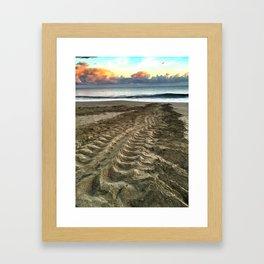 Leatherback Turtle Tracks Framed Art Print