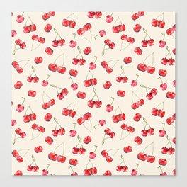 Cherry Pattern Canvas Print