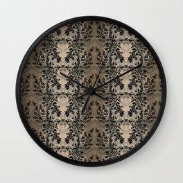 Black Shadow Rose Vine Wall Clock