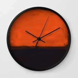 Rothko Inspired #18 Wall Clock