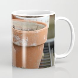 Flower Pots with Texture Coffee Mug