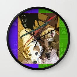 Roz, Buster, Peppy and Jamie Wall Clock