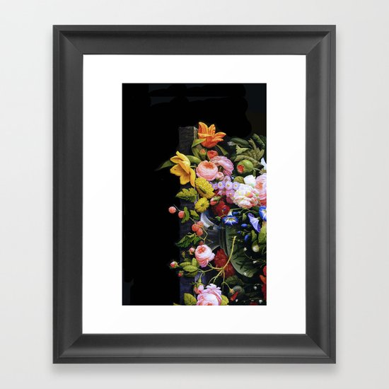 Victorian Flowers&Fruits Framed Art Print