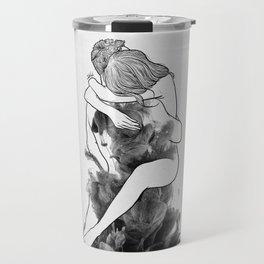 I find peace in your hug. Travel Mug