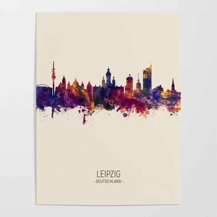 Leipzig Germany Skyline Poster By Artpause Society6
