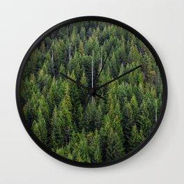 Wall of Trees Wall Clock