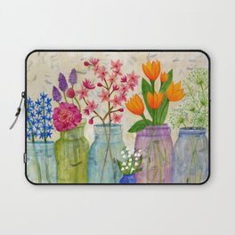 Springs Flowers in Old Jars Laptop Sleeve