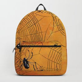 Halloween Spiderwebs Watercolor - Kitschy Vintage Spooky All Hallows Eve Backpack