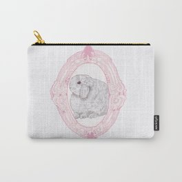 Cameo Bunny Carry-All Pouch