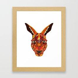Geometric Kangaroo Framed Art Print
