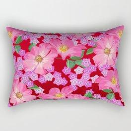 tossed flower garden Rectangular Pillow