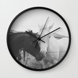 Horse Pair Wall Clock