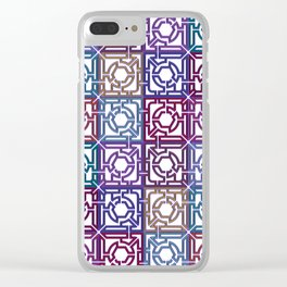Colorful Maze V Clear iPhone Case