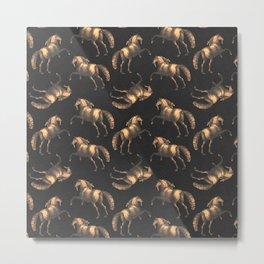 Golden Renaissance Horses Metal Print