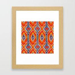 navajo ikat print medium Framed Art Print