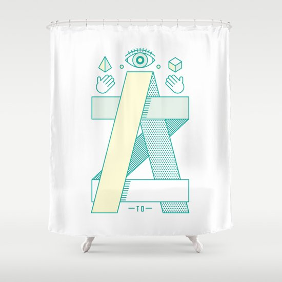 A to Z Shower Curtain