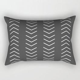 Mudcloth Black white arrows Rectangular Pillow