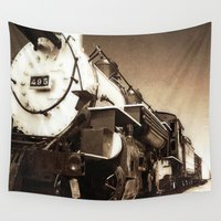 train Wall Tapestries featuring Train by SteeleCat