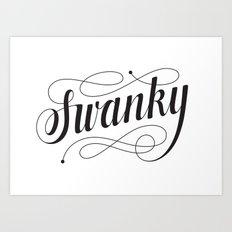 Swanky Art Print
