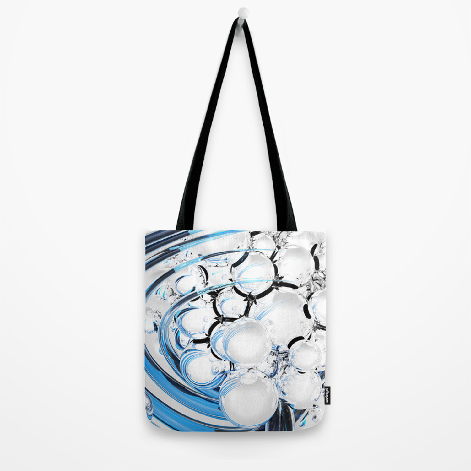 dc278404587 Abstract glossy white sphere Tote Bag