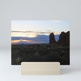 Utah Sunset Landscape Mini Art Print
