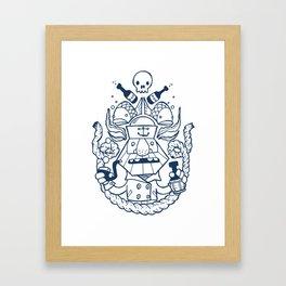 Captain Badass Framed Art Print