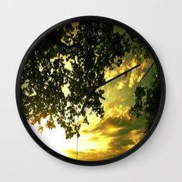 Soaring Sunset Wall Clock