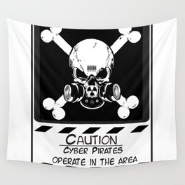 Cyber Pirate Wall Tapestry
