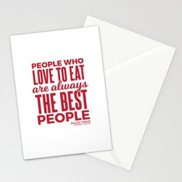 The Best People (Red) Stationery Cards