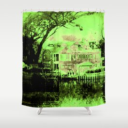 Spooky Boathouse Shower Curtain