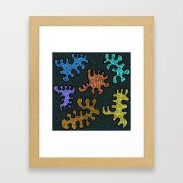 Doodle Monsters Framed Art Print