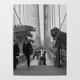Old Time Godzilla vs. King Kong Poster