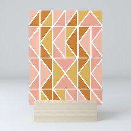Blush and Terracotta Shapes Mini Art Print