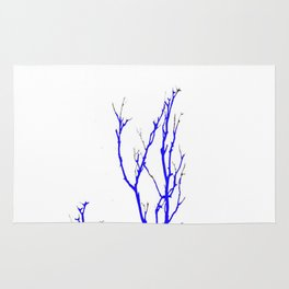 TWILIGHT WINTER TREE BRANCHES Rug