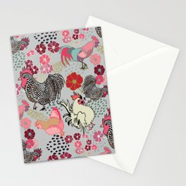 Rooster Toss Stationery Cards