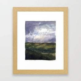 The View from Mt. Greylock Framed Art Print