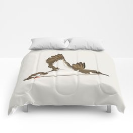 Simple Minimalist Manx Shearwater Flying Comforters