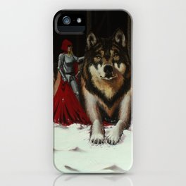Red And Wolf iPhone Case