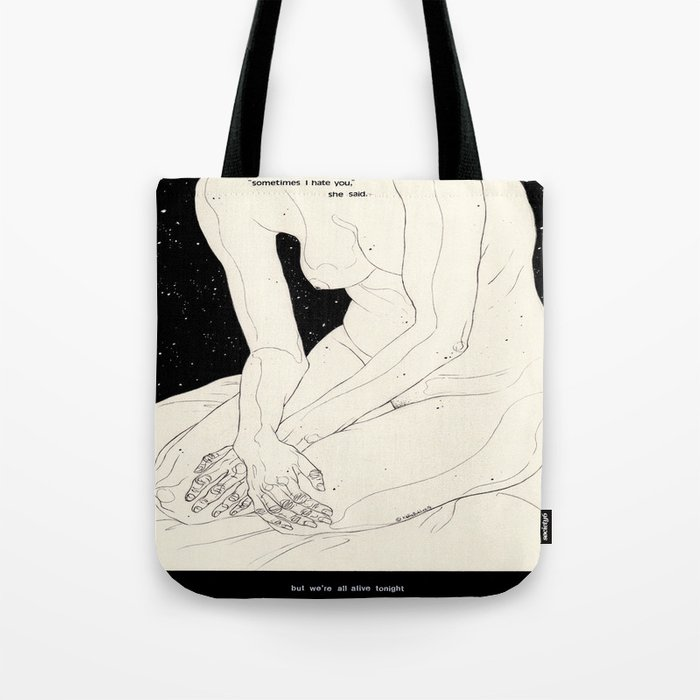 The Night Is Coming Tote Bag