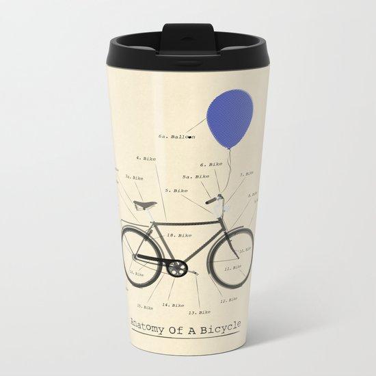 Anatomy Of A Bicycle Metal Travel Mug