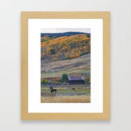 Colorado Horse Ranch Framed Art Print