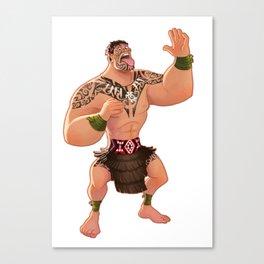 Maori Warrior Canvas Print