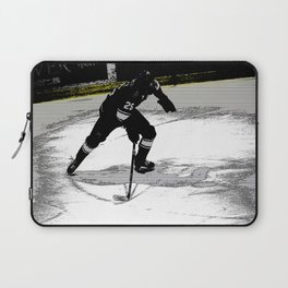 On the Move - Hockey Player Laptop Sleeve