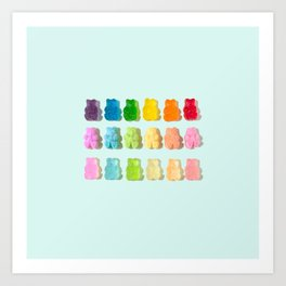 Gummi Bear Rainbow Art Print