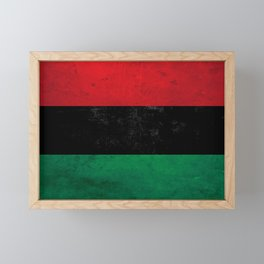 Distressed Afro-American / Pan-African / UNIA flag Framed Mini Art Print