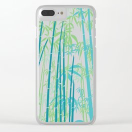 Bamboo V Clear iPhone Case