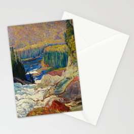 Falls Montreal River by James Edward Hervey MacDonald - Canada, Canadian Oil Painting Stationery Cards