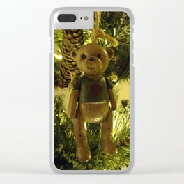 Teddy and Pinecones Clear iPhone Case