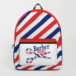 Barber Magic - red, white, blue Backpack